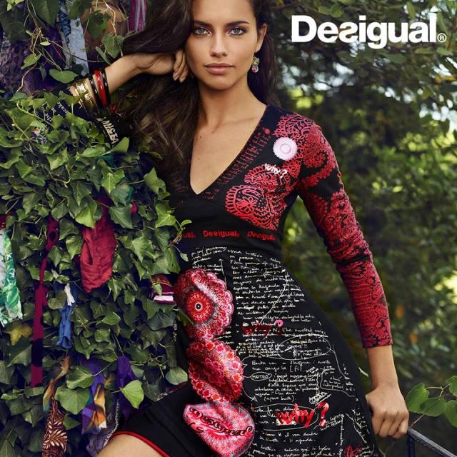 Desigual.TIJAT.dress.worn.by.Adriana.Lima.FW2014