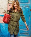 Desigual ALBACETE overcoat in military green. It has a removable faux-fur liner that can be worn separately as a vest. Was $329. Now 25% off at Angel.