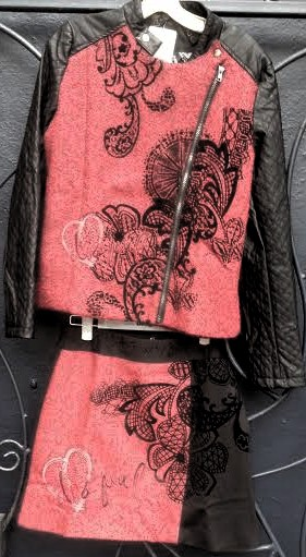 Desigual.woman.Entea.moto.jacket.$229.&.matching.Bali.skirt.$134.FW2014