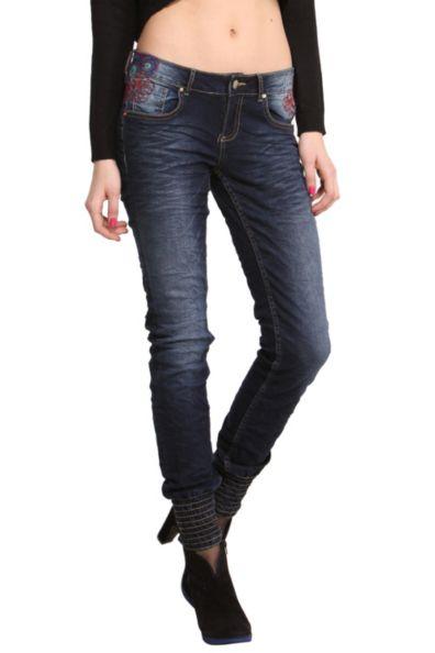 Desigual.woman.Esther.jeans.hem.cuff.$134.FW2014