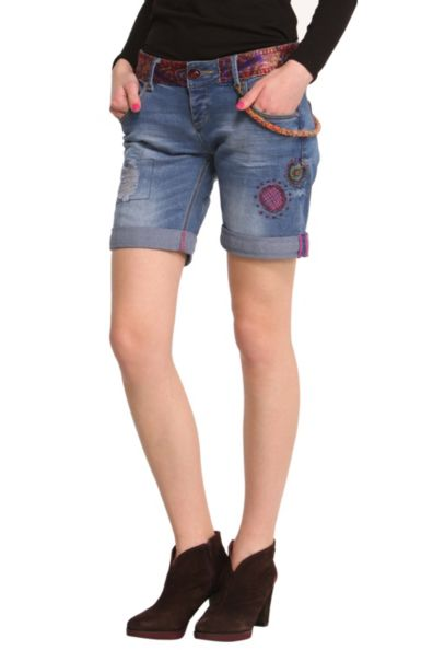 Desigual.woman.Nimed.denim.shorts.$89.FW2014