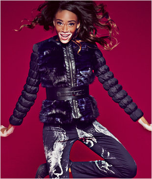 Desigual.YVON.jacket.worn.by.Winnie.Harlow.$229.FW2014