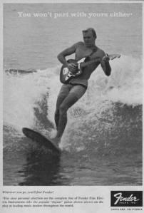 1960s Fender ad campaign by Bob Perine.