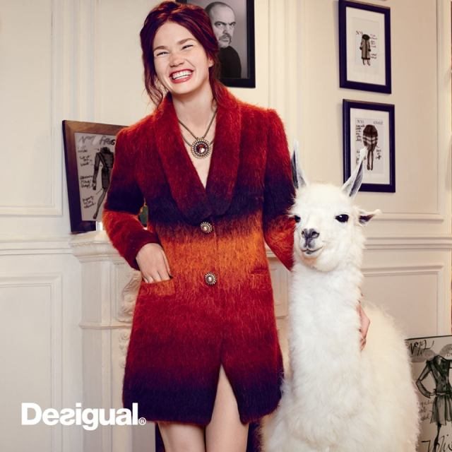 Desigual IMMA coat made in Italy using alpaca wool Designed by Christian Lacroix for Desigual.