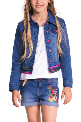 Desigual denim jean jacket for kids. $122. Spring-Summer 2015.
