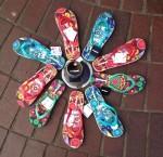 Desigual flip-flop sandals, $34, for Spring-Summer 2015. photo by angelvancouver.com