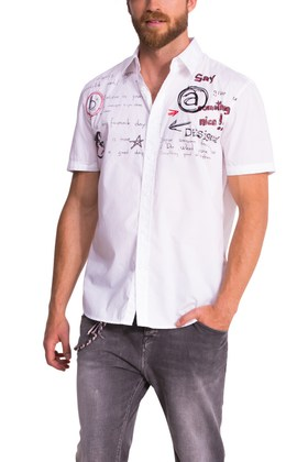 Desigual JULIO short-sleeve shirt. $74. Spring-Summer 2015.