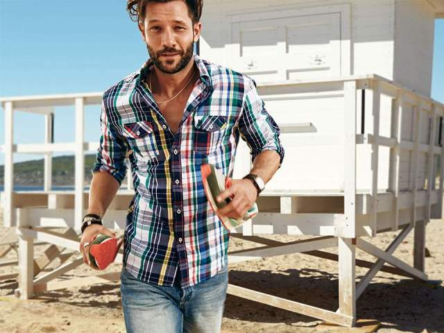 Desigual plaid shirt from Spring-Summer 2015 collection.