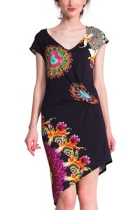 Desigual.MILDRED.dress.black.$154.SS2015