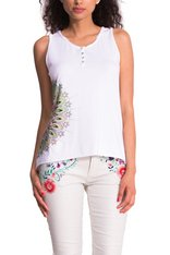 Desigual.ROSES.tshirt.white.$44.SS2015