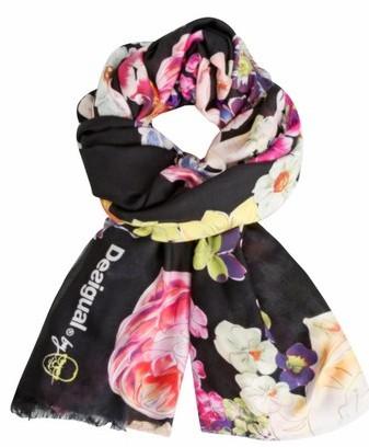 Desigual-Foulard-Black-Flower-Soft-scarf-by-Lacroix.$65.95.SS2016.61W5LA0_2000