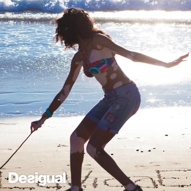 Desigual.model.Winnie.at.the.beach.Summer.2015