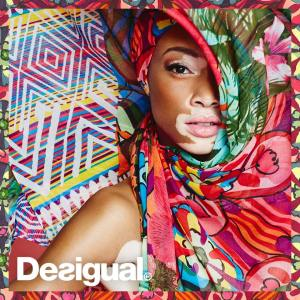 Desigual brand ambassador Chantell Winnie has a rare skin condition called vitiligo, which you can read about here.