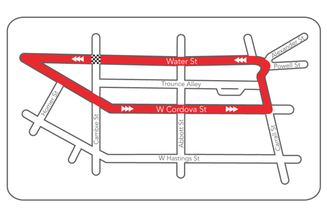 gastown grand prix route