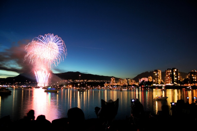 Canada Day fireworks Vancouver Canada