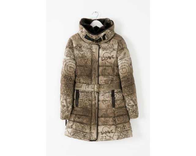 Desigual ALETHEA quilted down jacket. $264. Fall-Winter 2015.