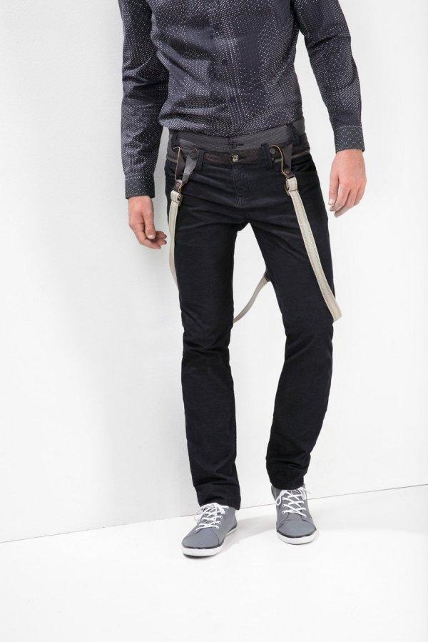 Desigual BLAIS cordouroy pants with removable suspenders. $179.