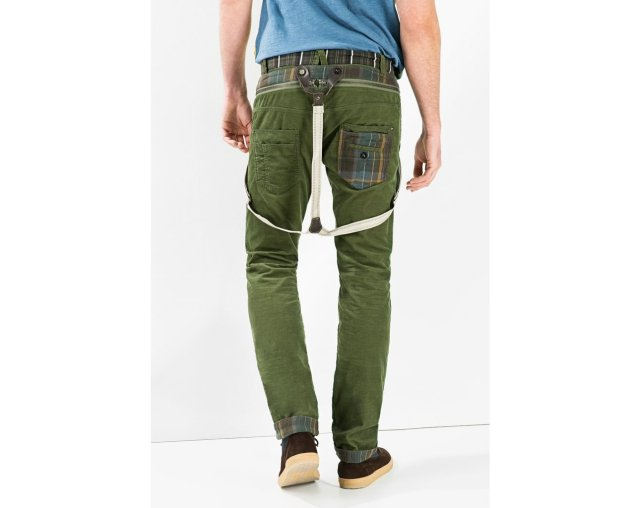 Desigual BLAIS pants in green (also with suspenders, which button off). Fall-Winter 2015