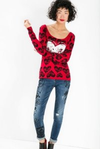 Desigual PULLOVER MITHIAH sweater. $109. Fall-Winter 2015.