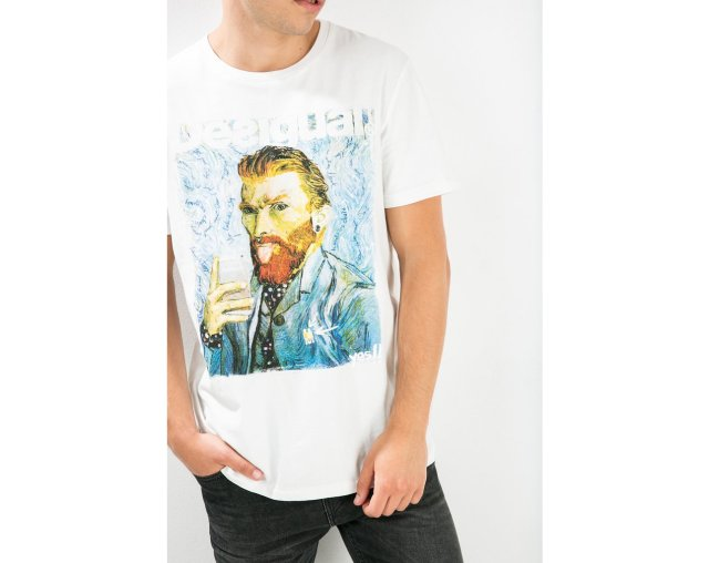 Desigual SELFIE t-shirt. Van Gogh. $65. Fall-Winter 2015.