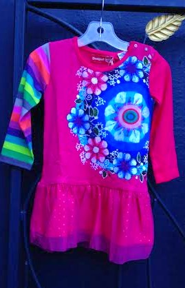Desigual.Christina.kids.dress.$59.organic cotton.FW2015