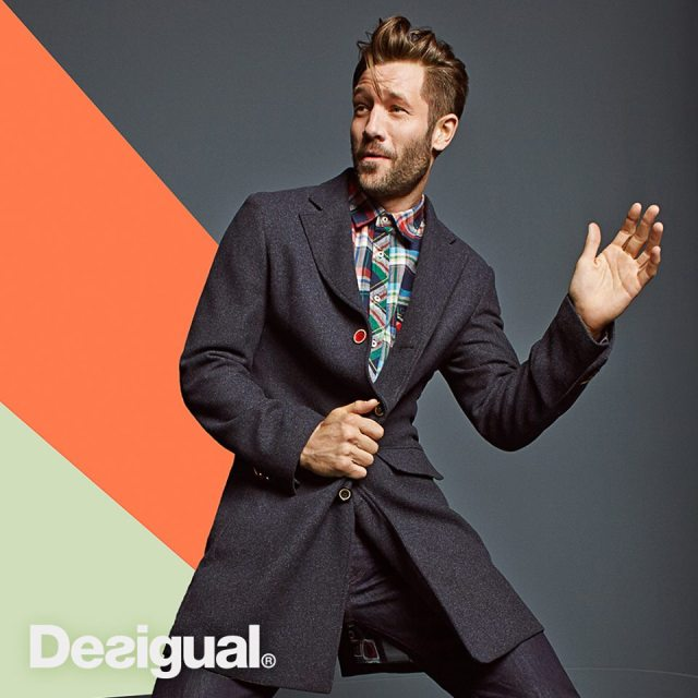 Desigual men's overcoat. Fall-Winter 2015 collection.