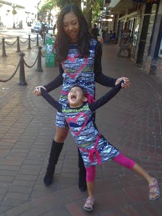 Shaolin.Shaiyen.matching.Desigual.kids.dresses