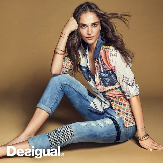 Desigual AURORA shirt for women. $149.95. Fall-Winter 2015. Shown here with the Broke Deluxe jeans, which we have in stock.