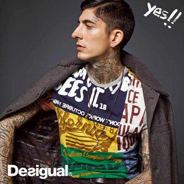 Desigual DECONSTRUCTED REP t-shirt. $90. Fall-Winter 2015.