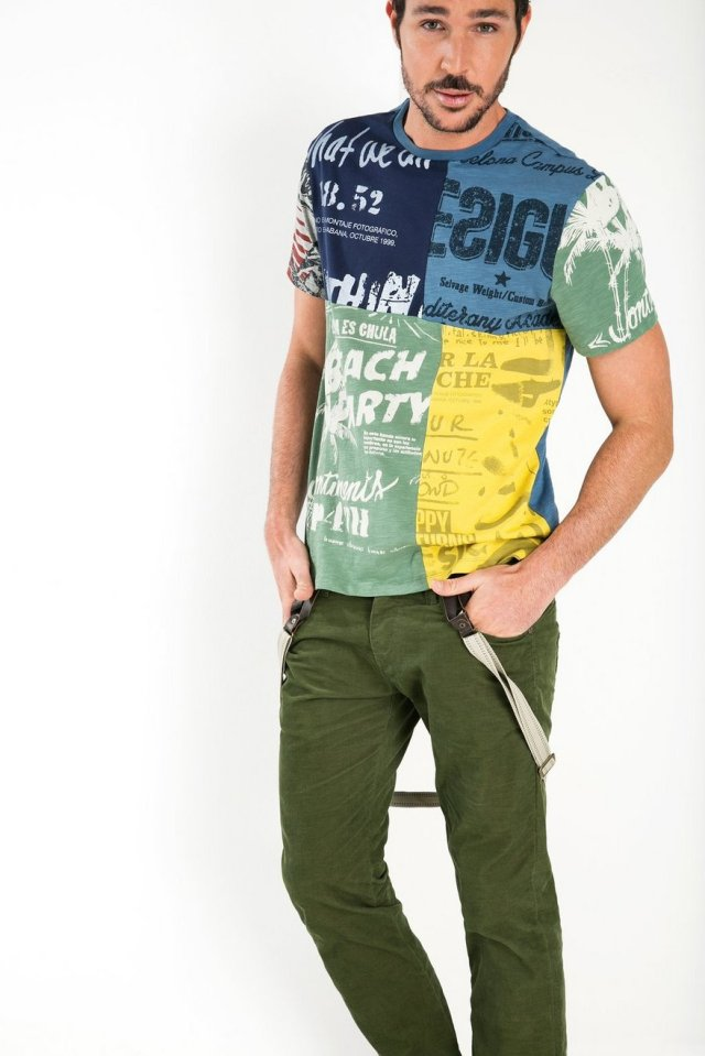 Desigual DECONSTRUCTED t-shirt for men. $90. Fall-Winter 2015