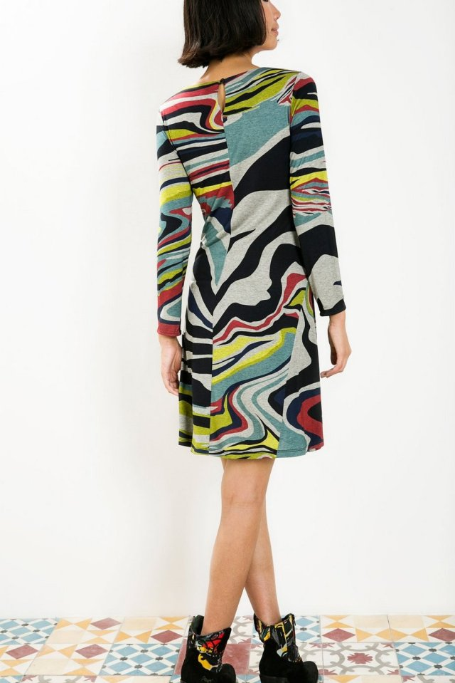 Back of Desigual ONAMON dress by Christian Lacroix. $169.95. Fall-Winter 2015