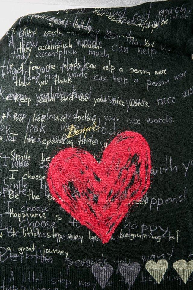 Desigual HEART SCARF detail. $109. 190 x 70 cm.