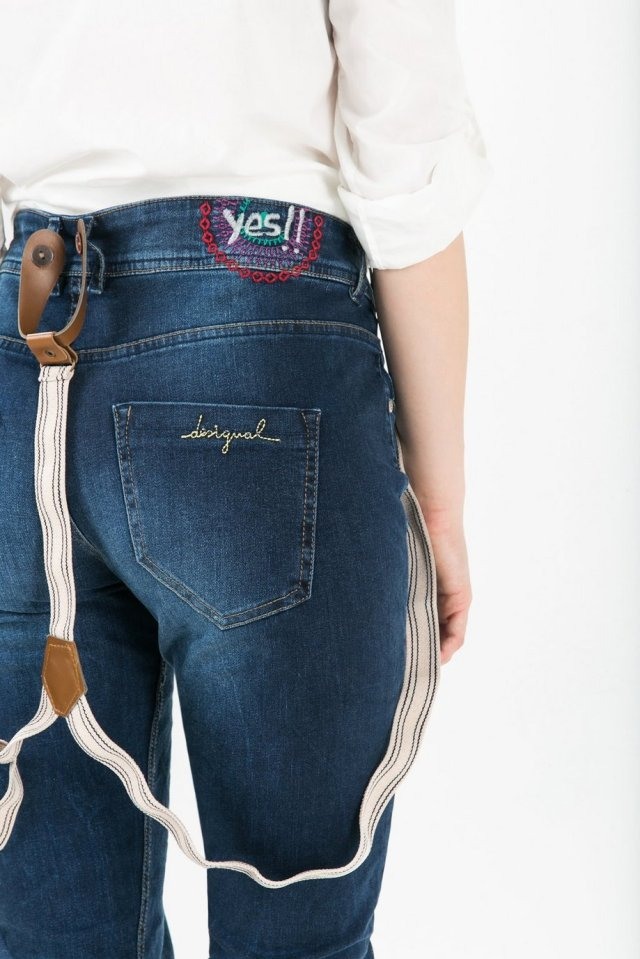 Desigual LURDES embroidered jeans. $175.95 Fall-Winter 2015