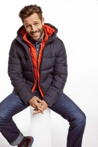 Desigual MIX men's winter jacket with hoodie and removable knitted collar. Rain-resistant. Was $295.95. Now $193 (35% off).