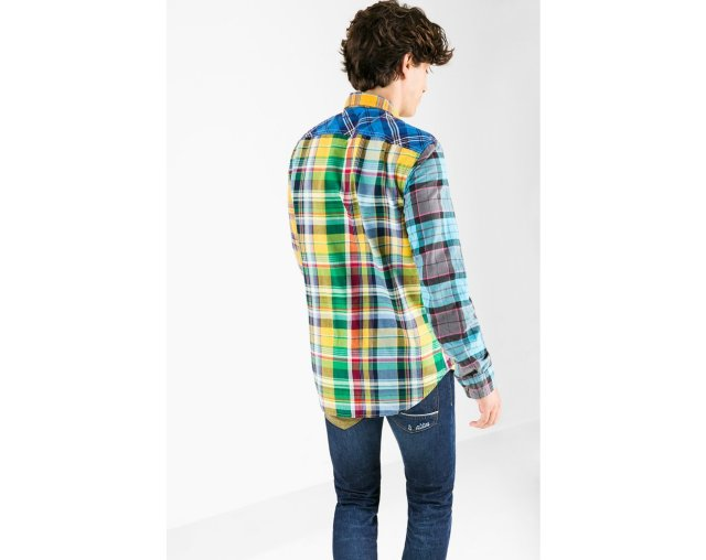 Desigual MIXX flannel shirt, showing back.