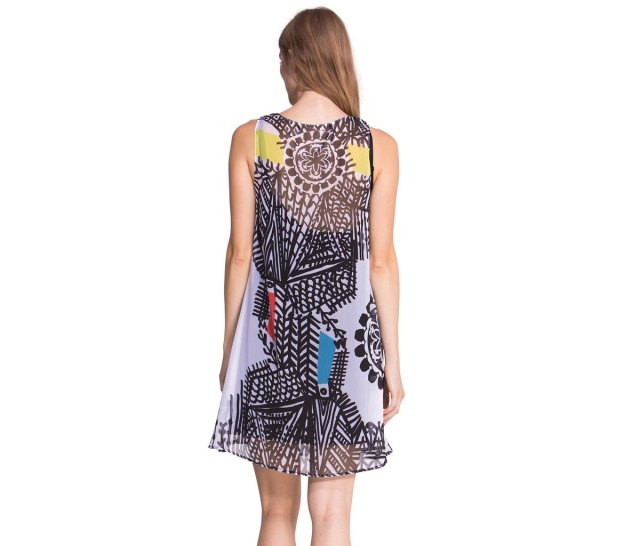 Back of Desigual NATALIA dress by Lacroix. $164. Fall-Winter 2015.