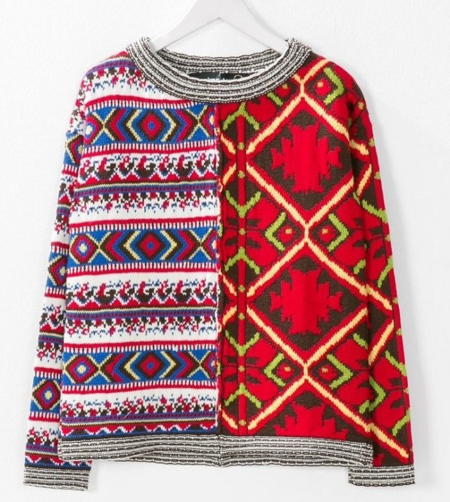 Desigual PULLOVER MEG by Christian Lacroix. Was $165.95. Now $116. Fall-Winter 2015.