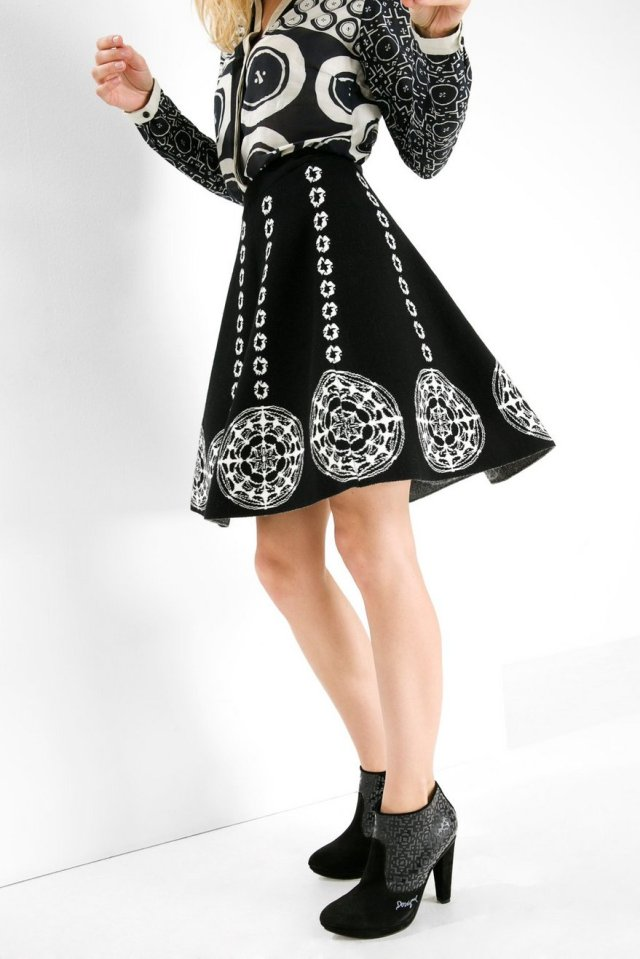 Desigual SALLY skirt designed by Christian Lacroix. $135.95. Fall-Winter 2015 collection.