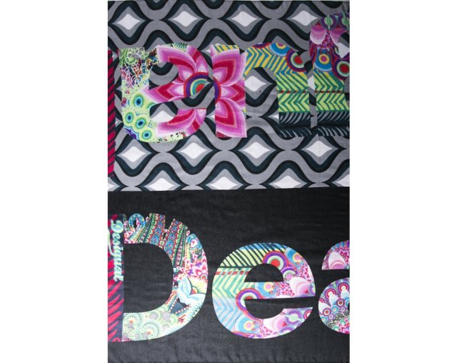 Detail on reverse side of Desigual SCARF DESIGUAL. $49.