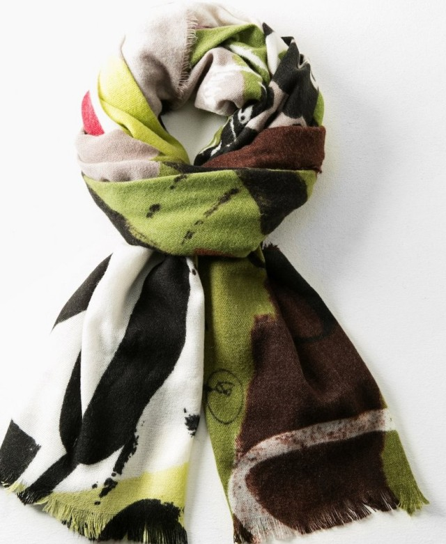 Desigual HAPPY FOREST scarf, $75.95. Fall-Winter 2015.