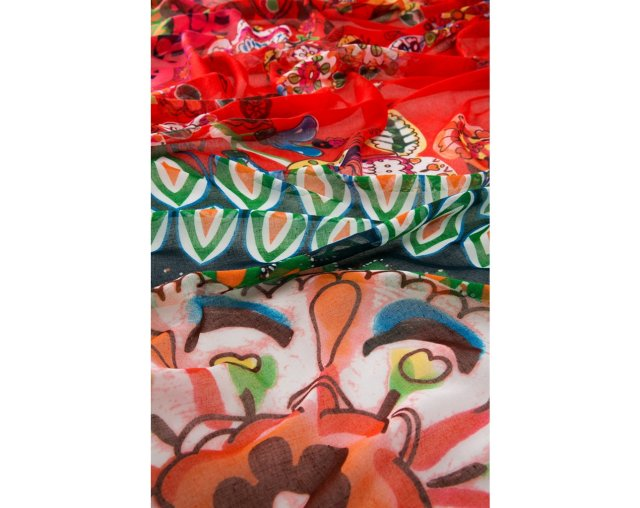 Detail of Desigual LIFE scarf. $46. Fall-Winter 2015.