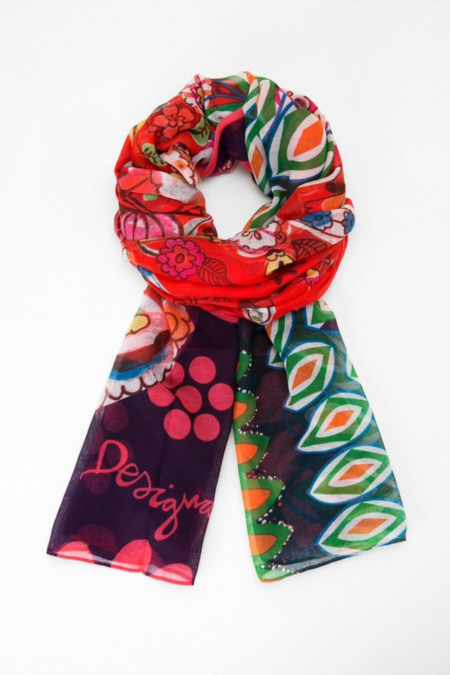 Desigual LIFE scarf. $46. Fall-Winter 2015.