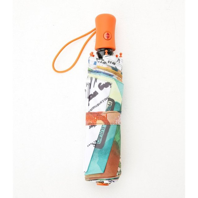 Desigual UMBRELLA PAINTER. $49. Opens and closes with push button on handle.