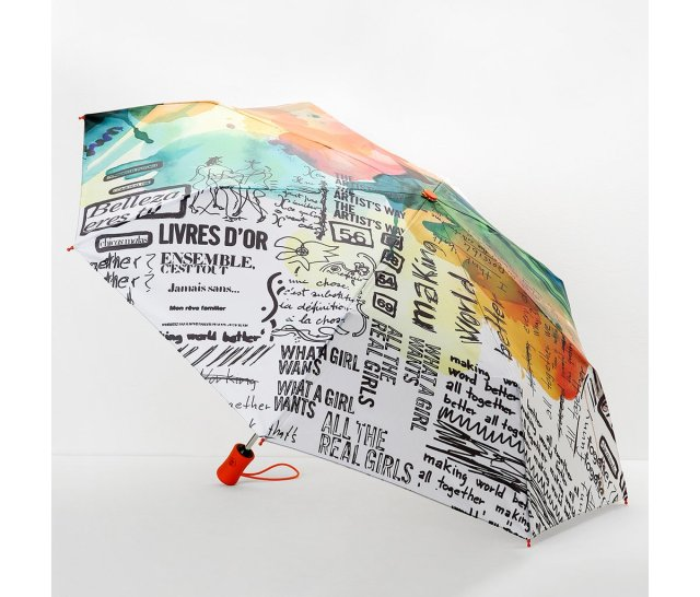 Other side of Desigual PAINTER UMBRELLA.