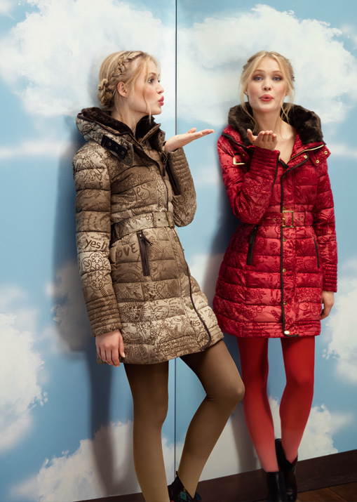 Angel also has these two new Desigual winter coats.