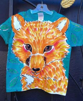 Angel fox shirt for kids by Justine Brown. photo by angelvancouver.com