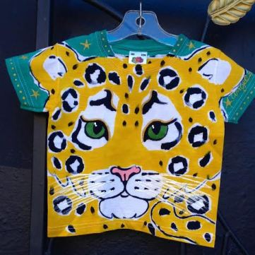 Angel kids leopard face shirt by Justine Brown. photo by angelvancouver.com