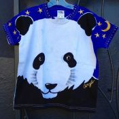 Angel panda shirt for kids by Justine Brown. photo by angelvancouver.com