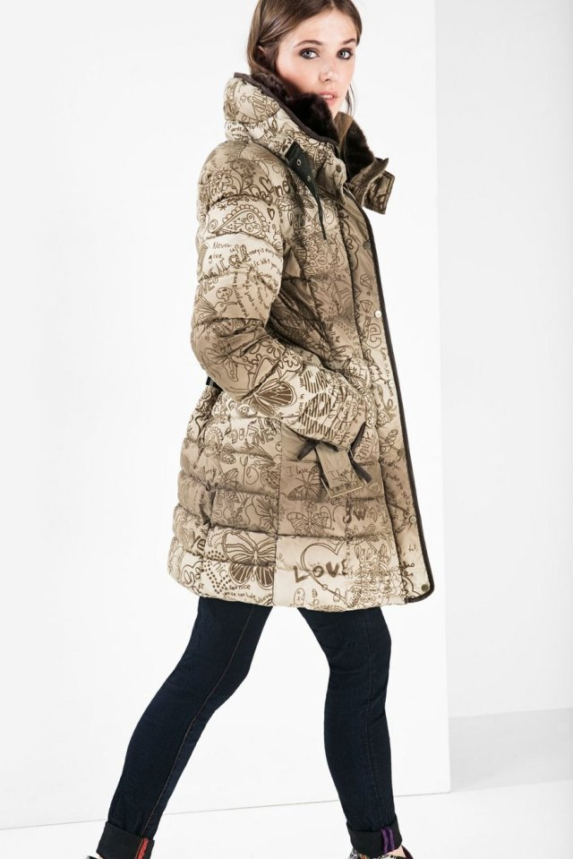 Desigual ALETHEA winter coat. $199.95. Fall-Winter 2015.