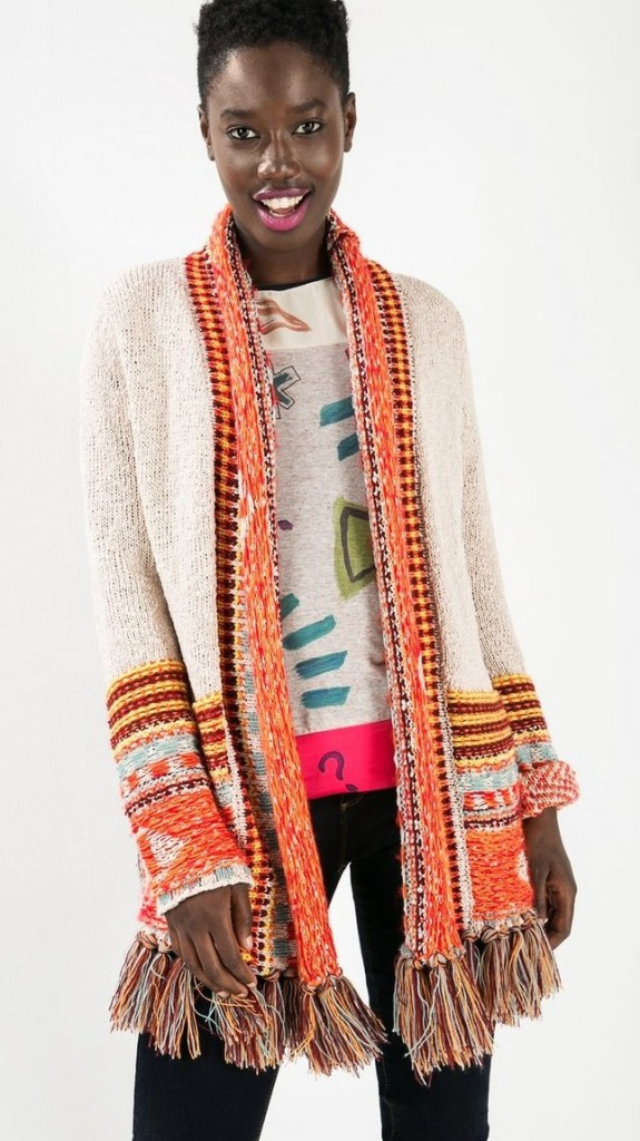 Desigual ISA CARDIGAN with fringe benefits. $199.95.